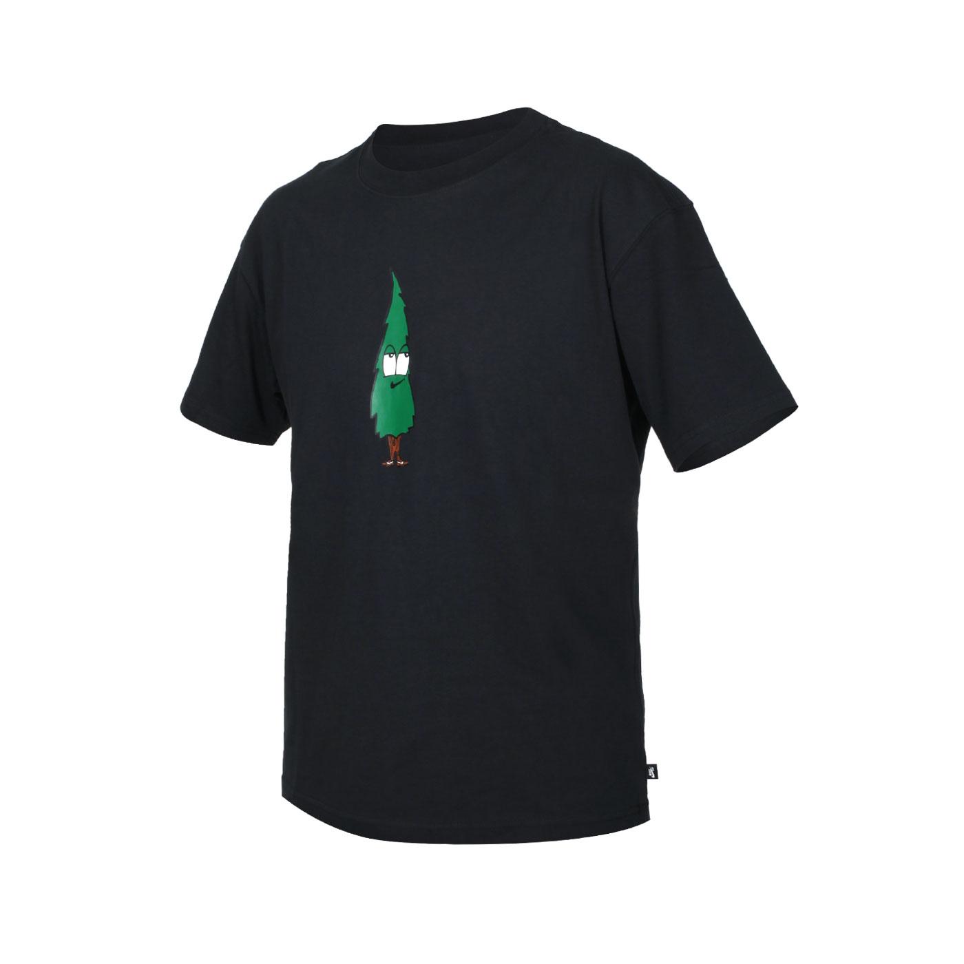 NIKE 男款短袖T恤 DM2244-010 - 黑綠棕