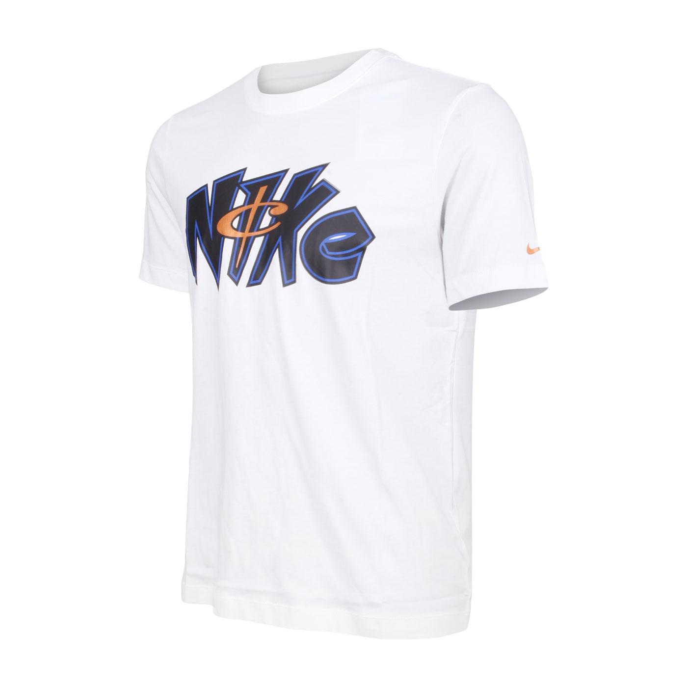 NIKE 男款短袖T恤 DM2444-100 - 白藍玫瑰金
