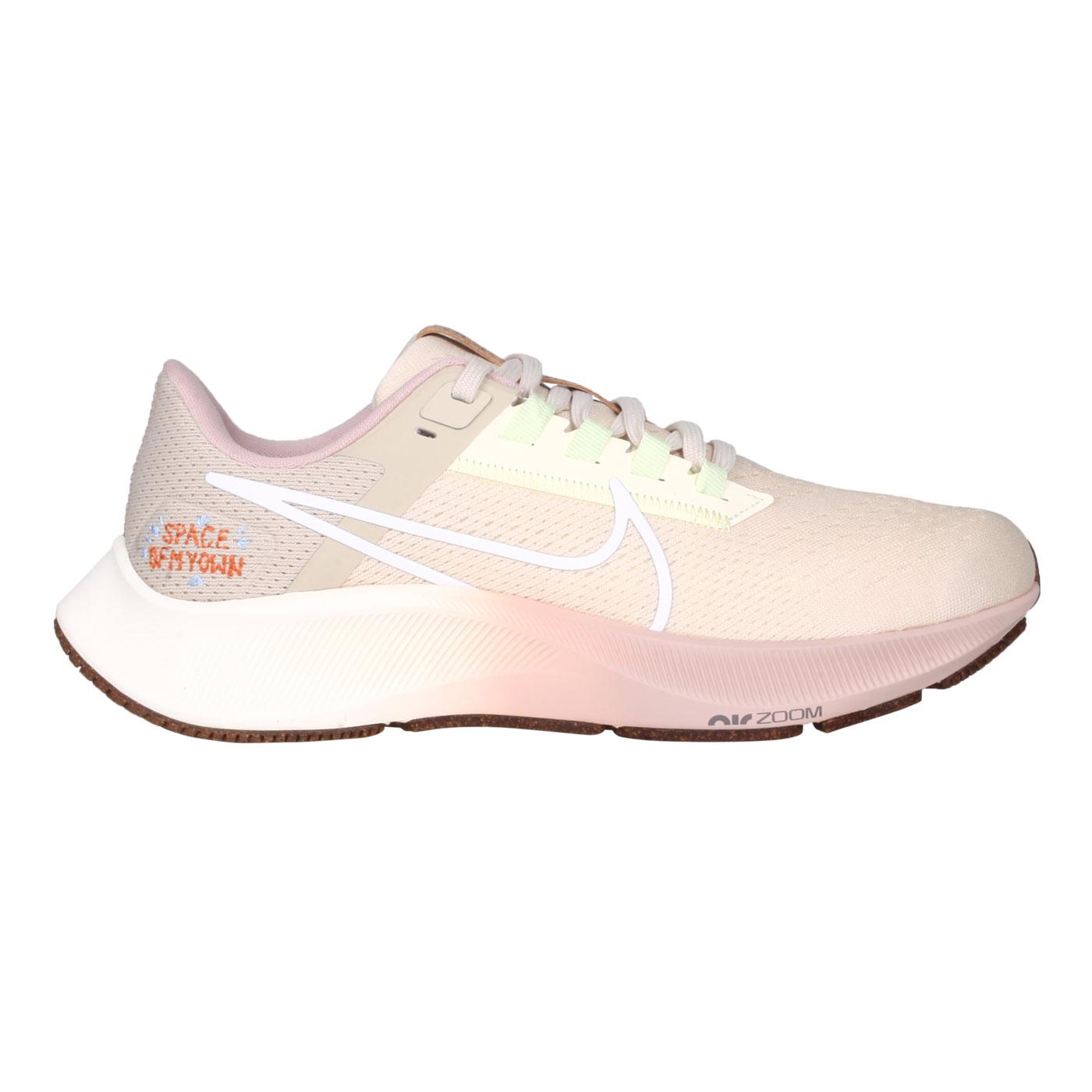 NIKE 女款休閒運動鞋  @WMNS AIR ZOOM PEGASUS 38@DM7195211 - 淺棕綠粉白