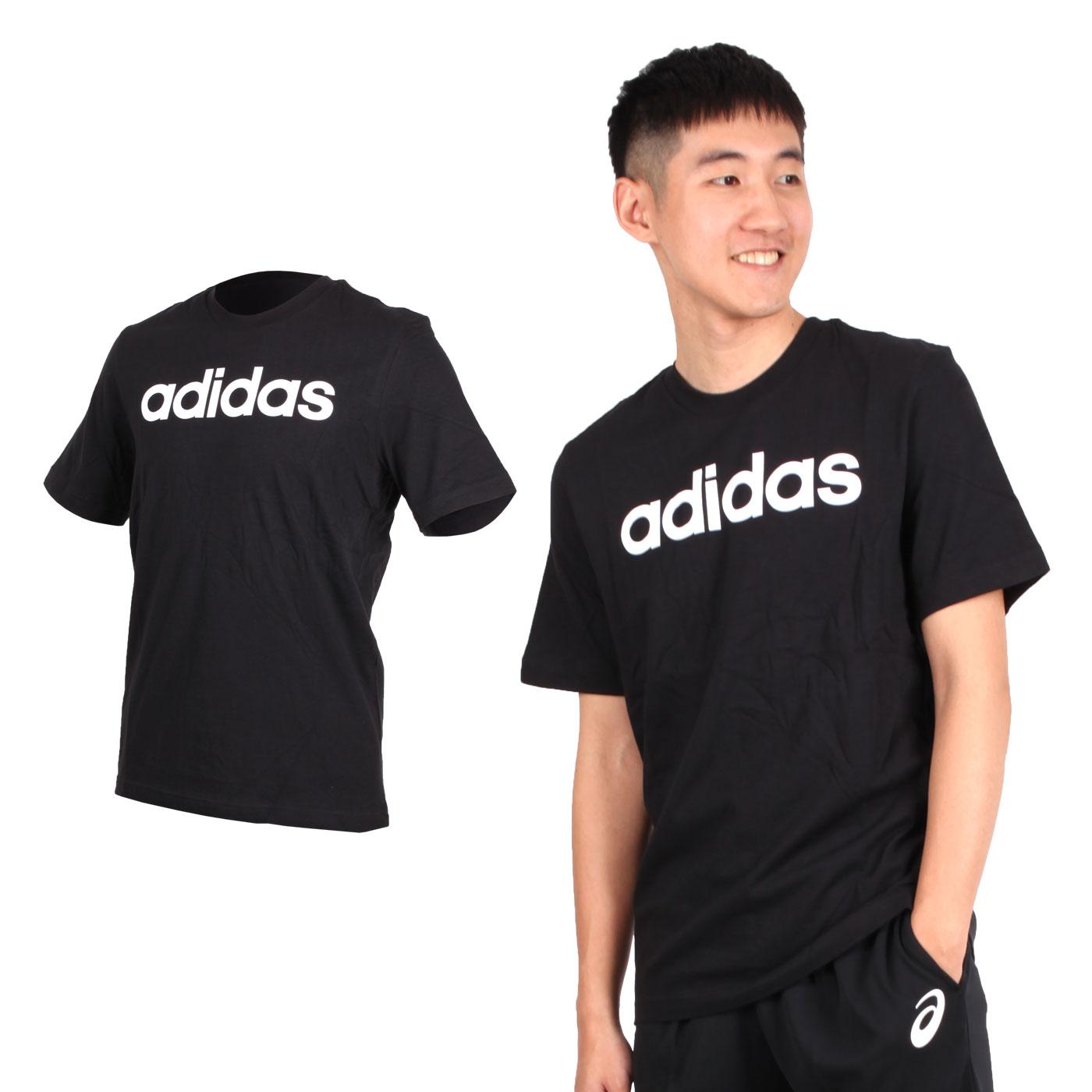 ADIDAS 男款短袖圓領T恤 DQ3056 - 黑白