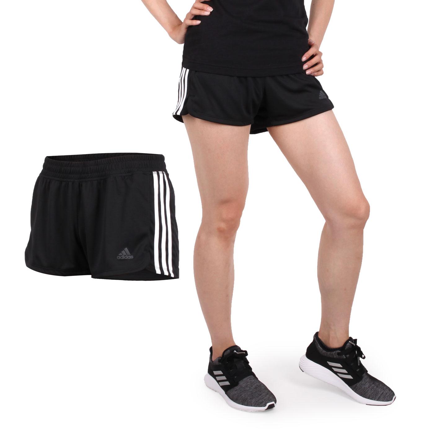 ADIDAS 女款運動短褲 DU3502 - 黑白