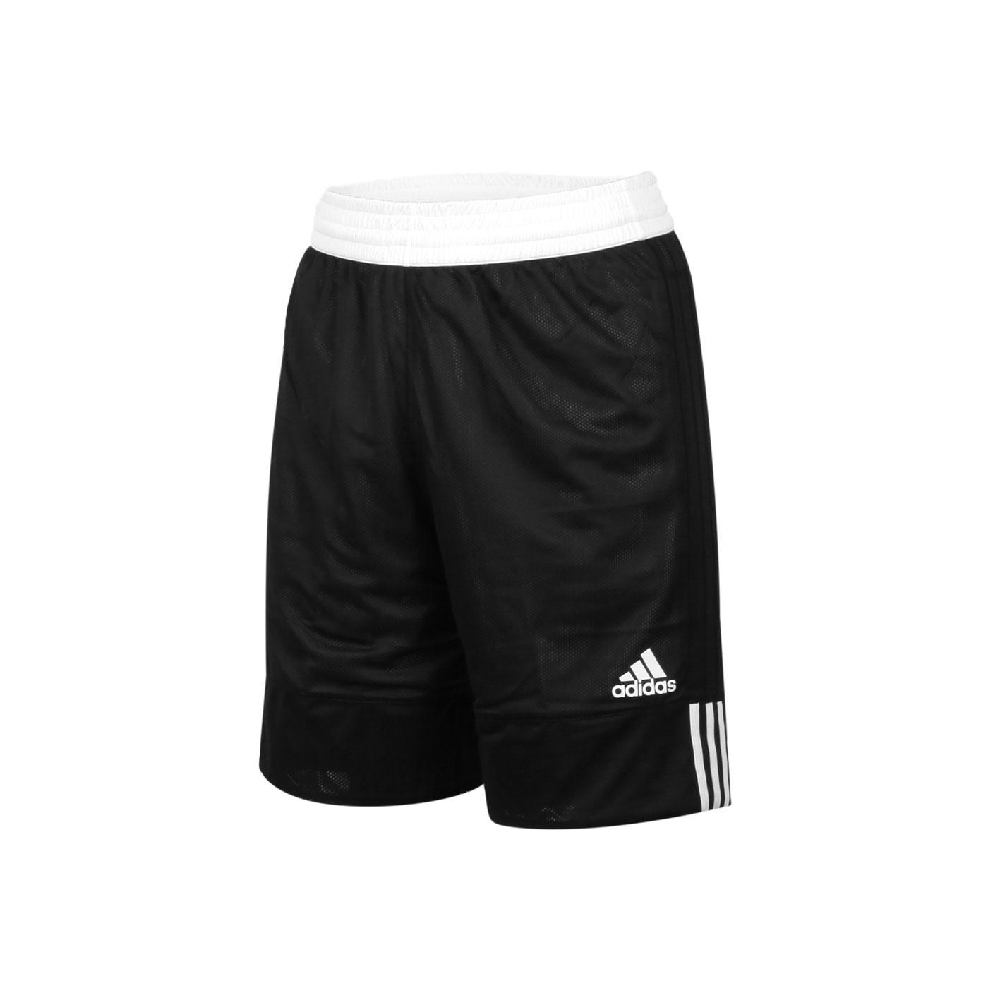 ADIDAS 男款雙面籃球短褲 DX6386 - 黑白
