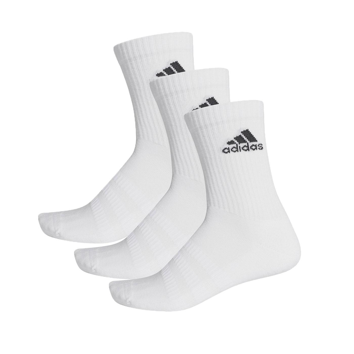 ADIDAS 運動中筒襪(三雙入) DZ9356 - 白黑