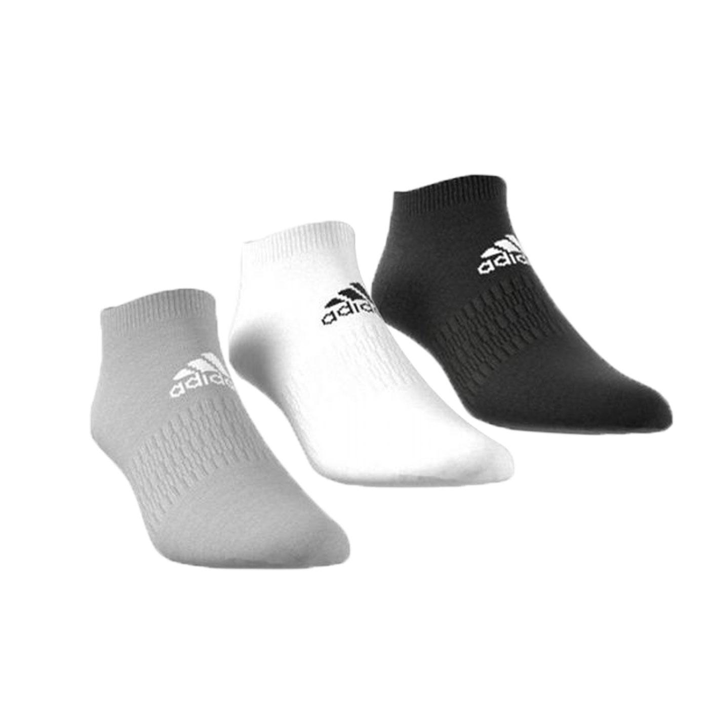 ADIDAS 運動踝襪(三雙入) DZ9400 - 黑灰白