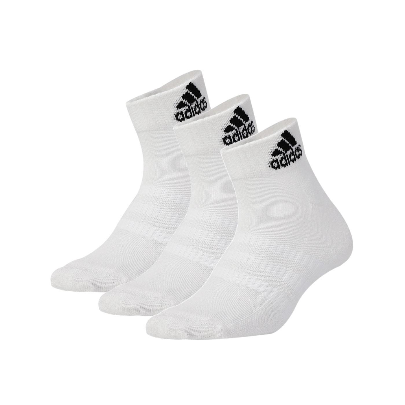 ADIDAS 運動短襪(三雙入) DZ9435 - 白黑