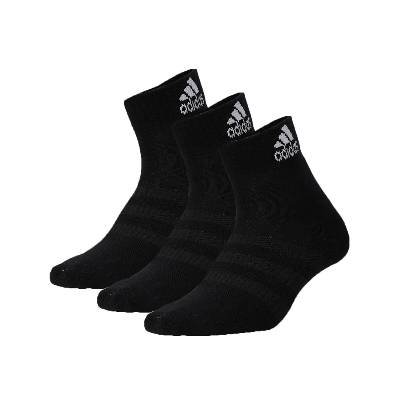 ADIDAS 運動短襪(三雙入) DZ9435 - 黑白