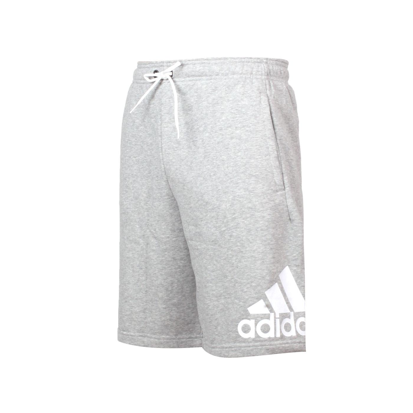 ADIDAS 男款運動短褲 EB5260 - 灰白
