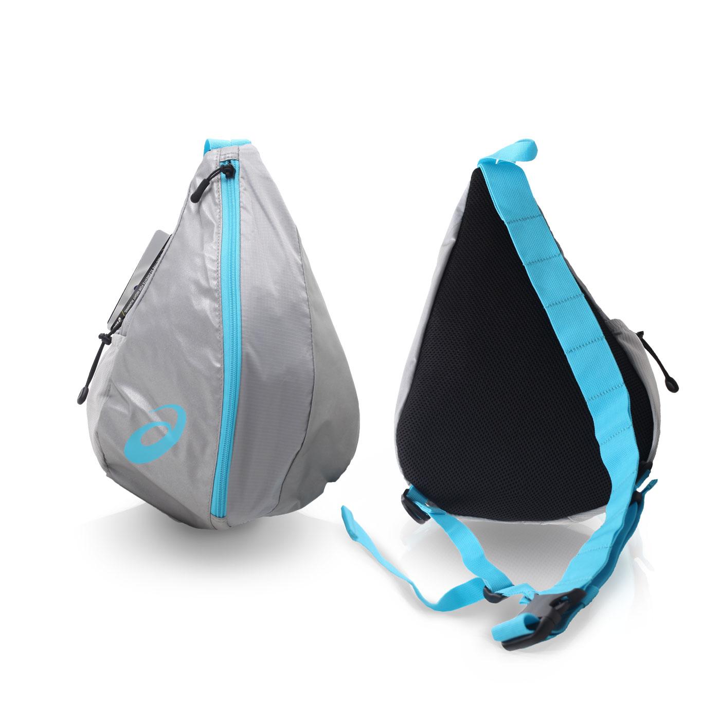 ASICS LITE-SHOW大肩背包 EBM505-1041 - 銀水藍