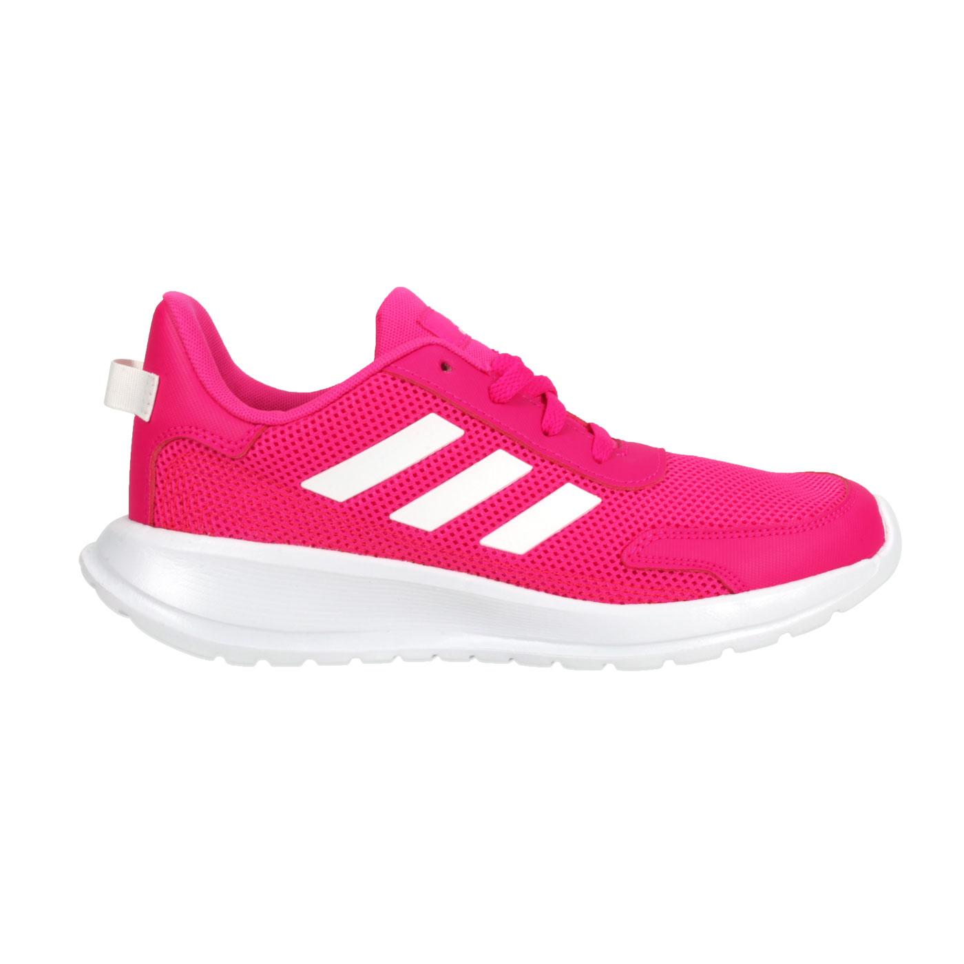 ADIDAS 大童休閒運動鞋  @TENSAUR RUN K@EG4126 - 亮桃紅白