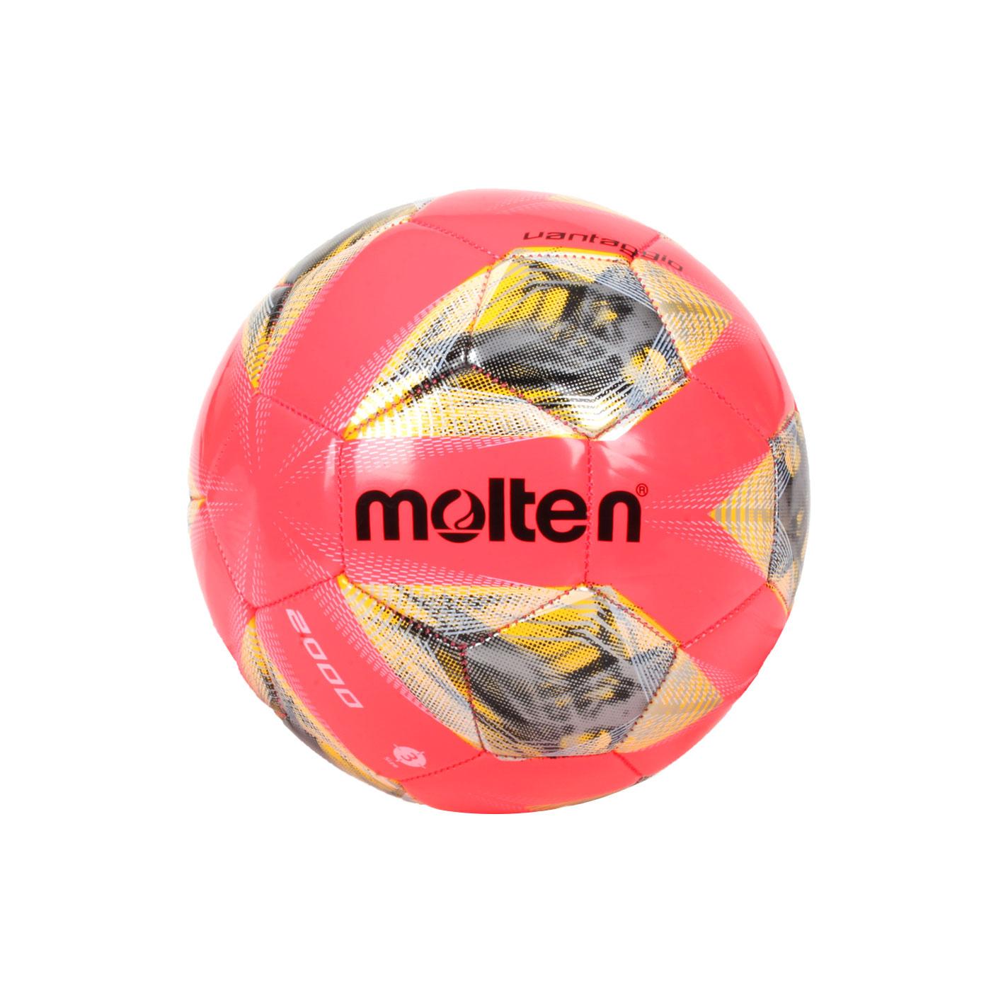 Molten #3合成皮足球 F3A2000-RY - 螢光粉黃銀