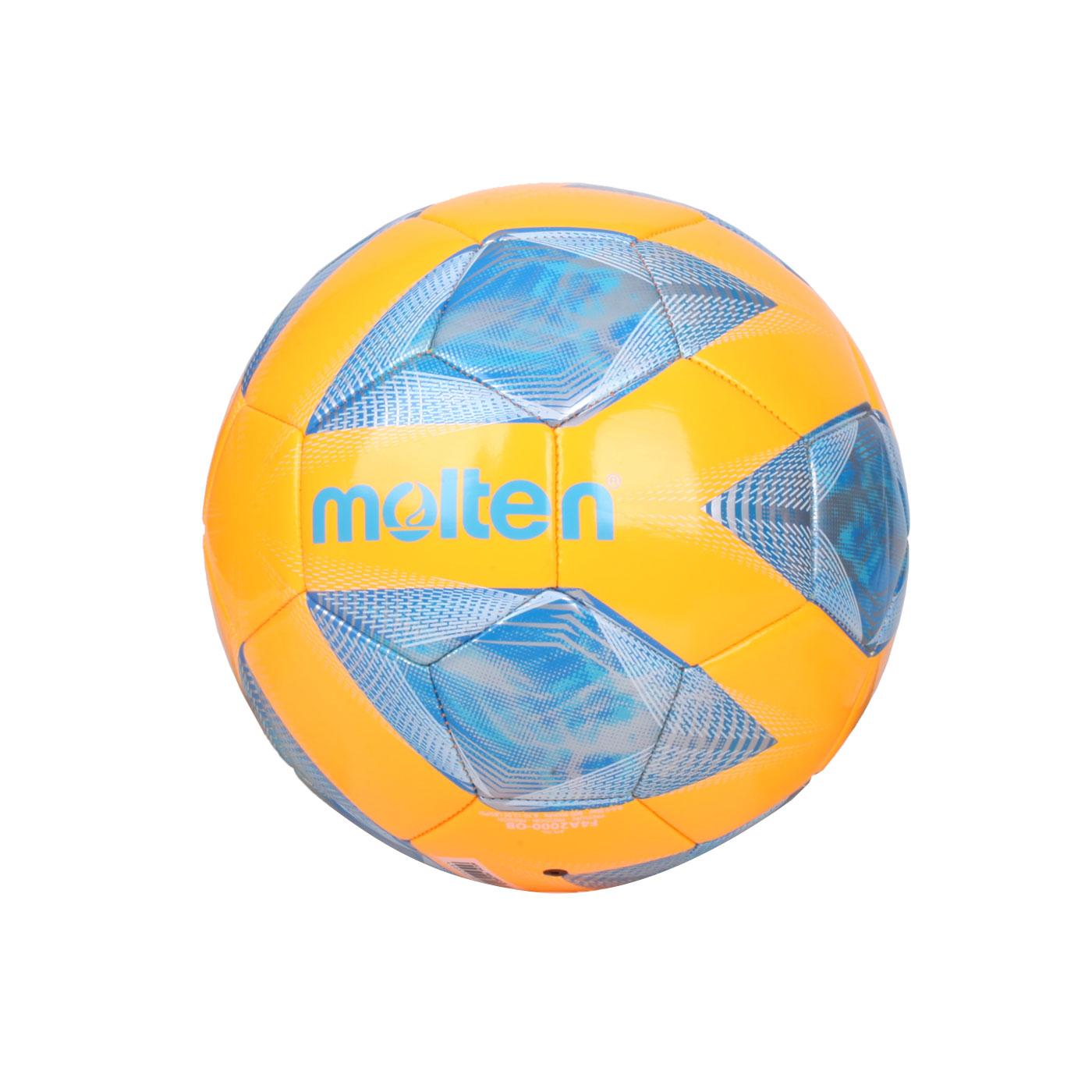 Molten #4合成皮足球 F4A2000 - 橘藍銀