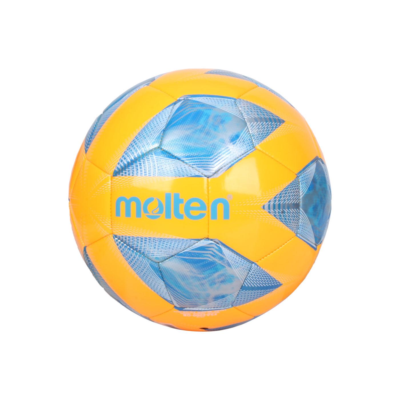 Molten #5合成皮足球 F5A2000-OB - 橘藍銀