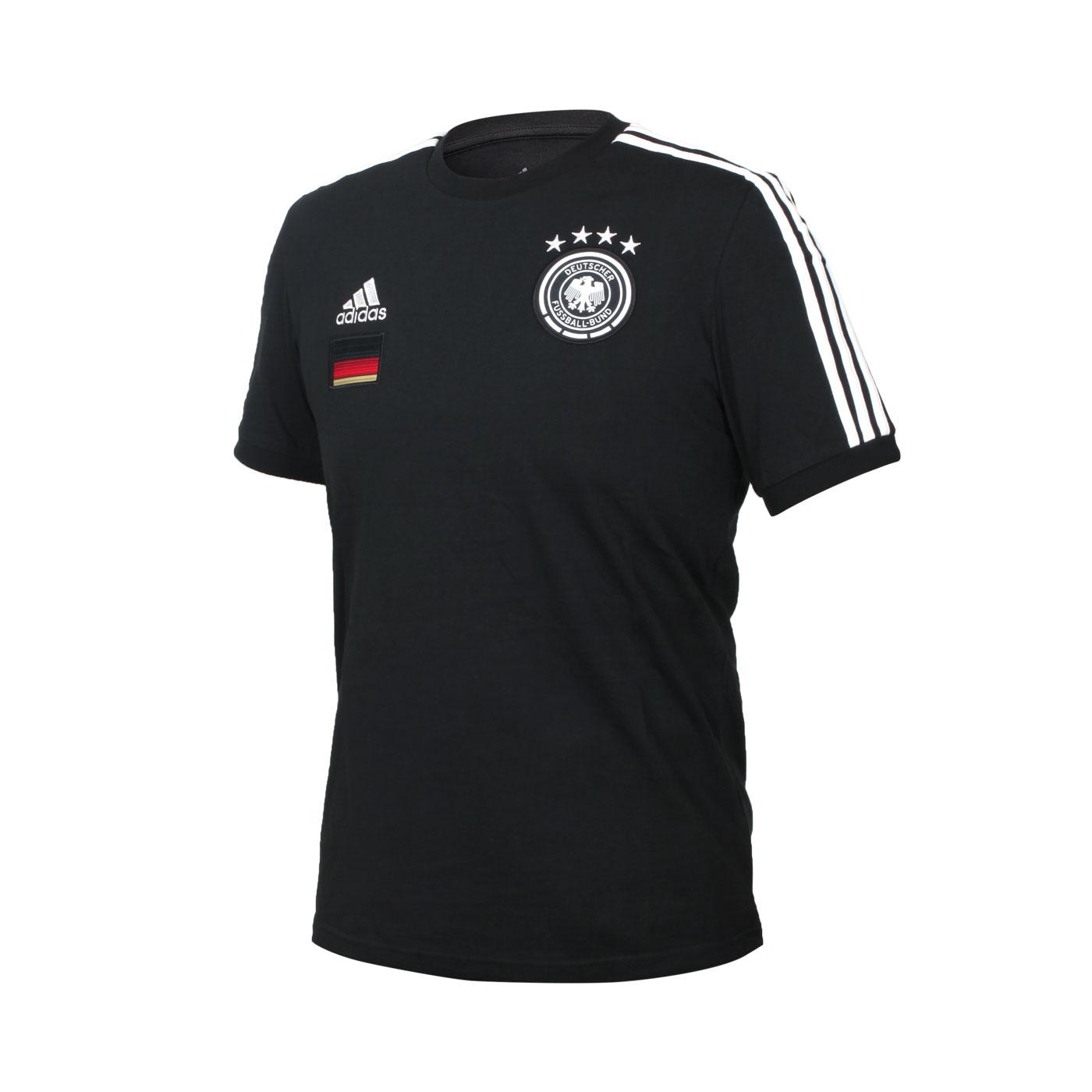 ADIDAS 男款足球短袖T恤 FI1461 - 黑白