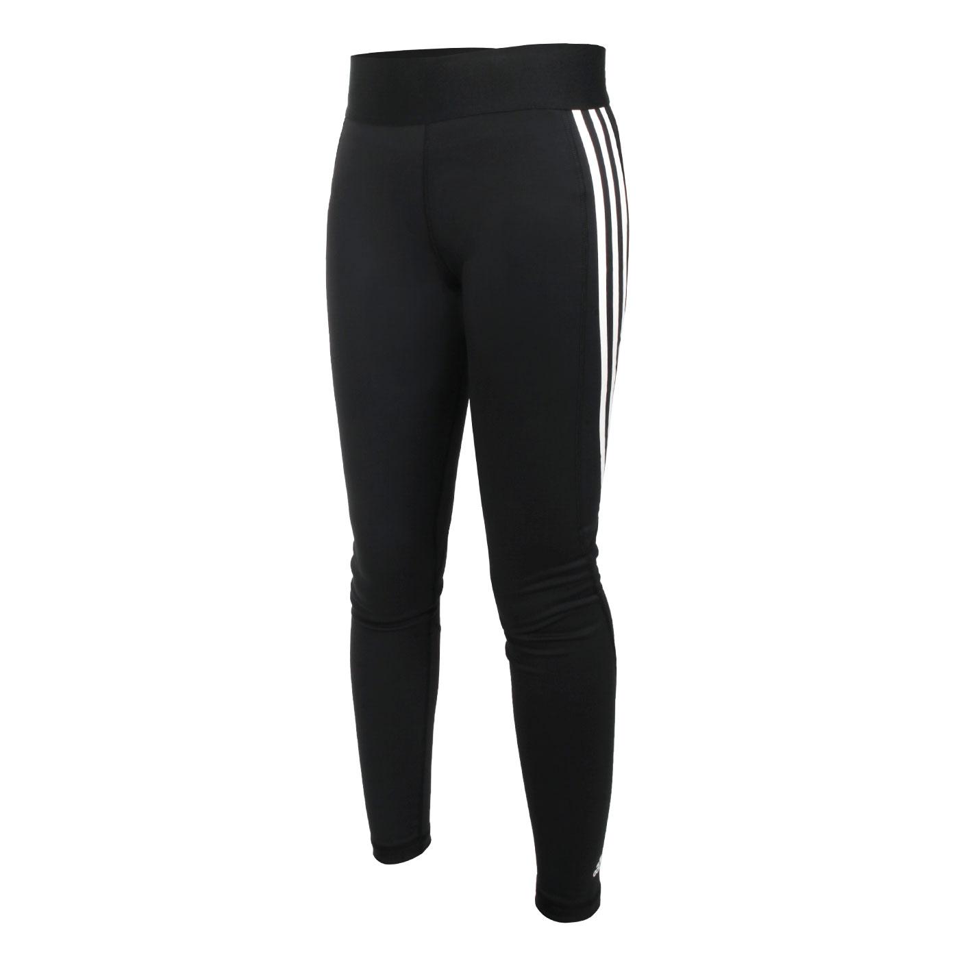 ADIDAS 女款緊身長褲 FJ7173 - 黑白