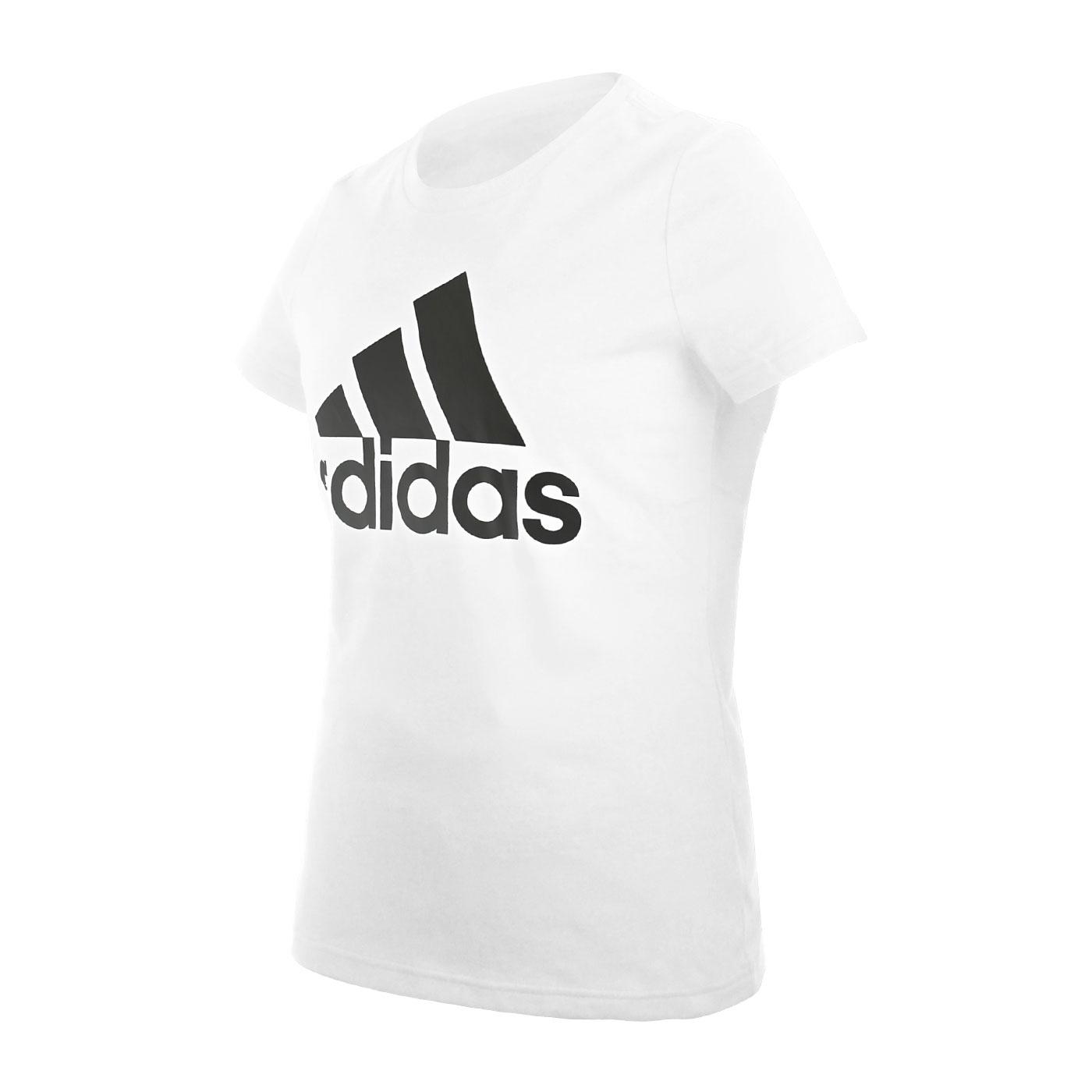 ADIDAS 女款短袖T恤 FQ3237 - 白黑
