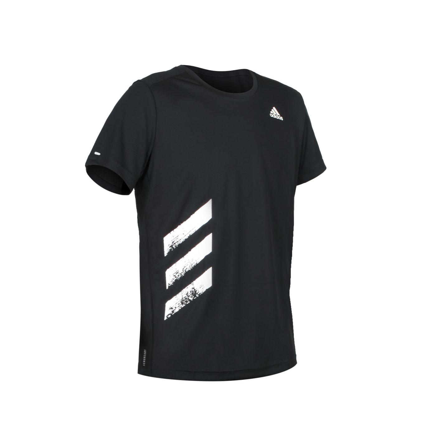 ADIDAS 男款短袖T恤 FR8382 - 黑白