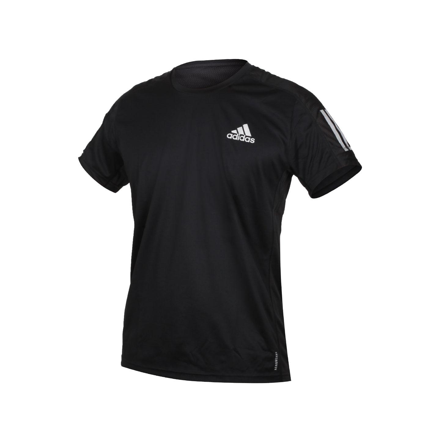 ADIDAS 男款短袖T恤 FS9799 - 黑銀