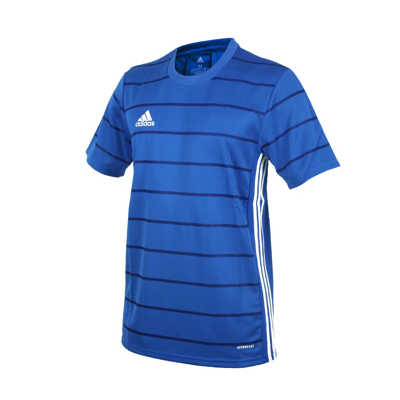 ADIDAS 男款短袖T恤 FT6762 - 藍白