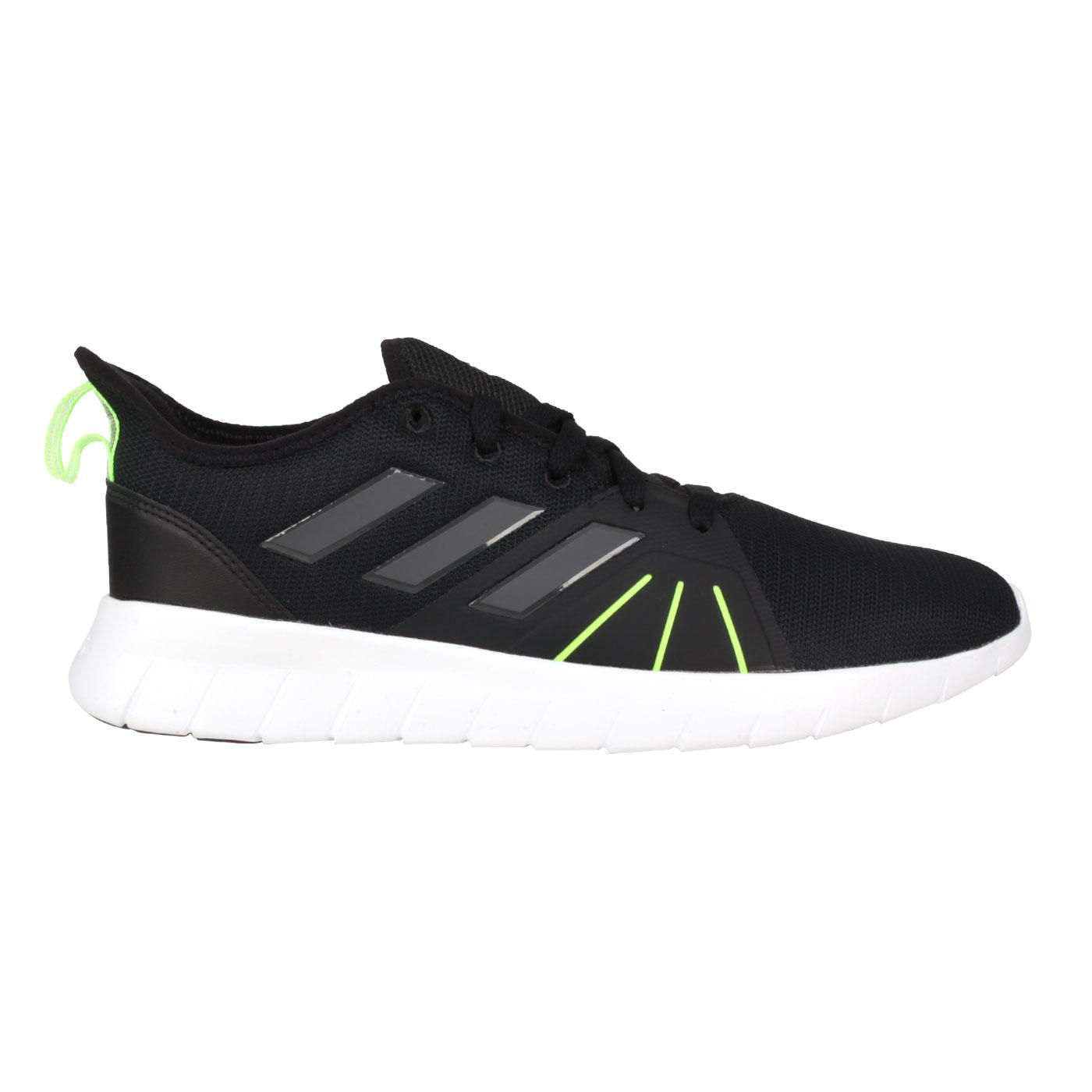 ADIDAS 男款運動慢跑鞋  @ASWEERUN 2.0@FW1683 - 黑螢光綠