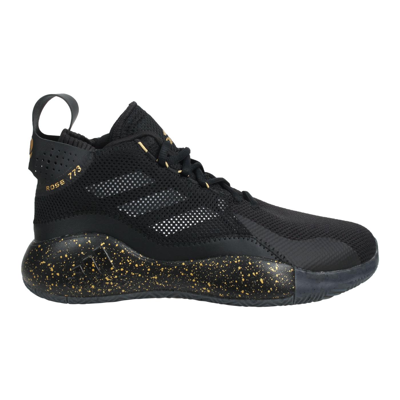 ADIDAS 男款籃球鞋 FW9838 - 黑黃