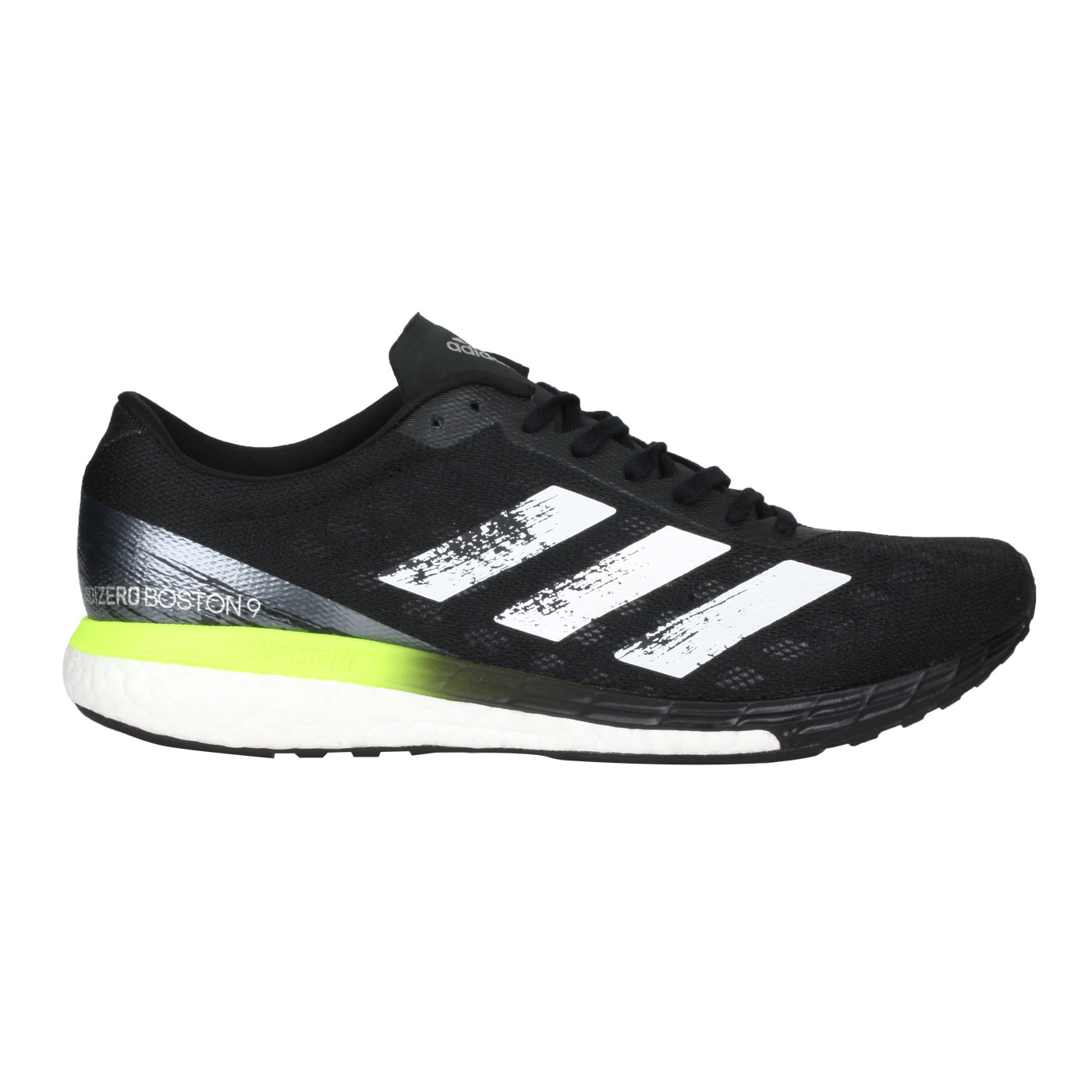 ADIDAS 男款慢跑鞋  @ADIZERO BOSTON 9 M@FY0343 - 黑螢光綠