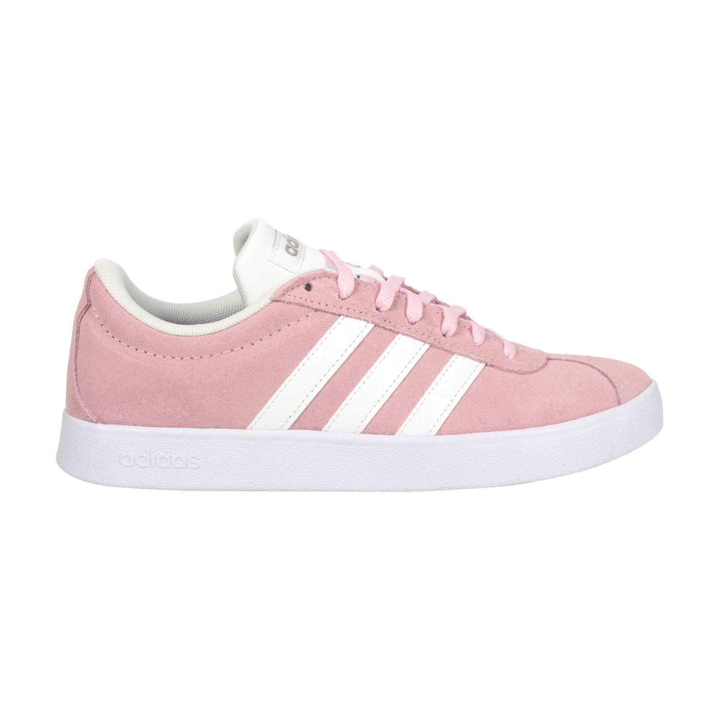 ADIDAS 女款休閒運動鞋  @VL COURT 2.0@FY8811 - 粉紅白