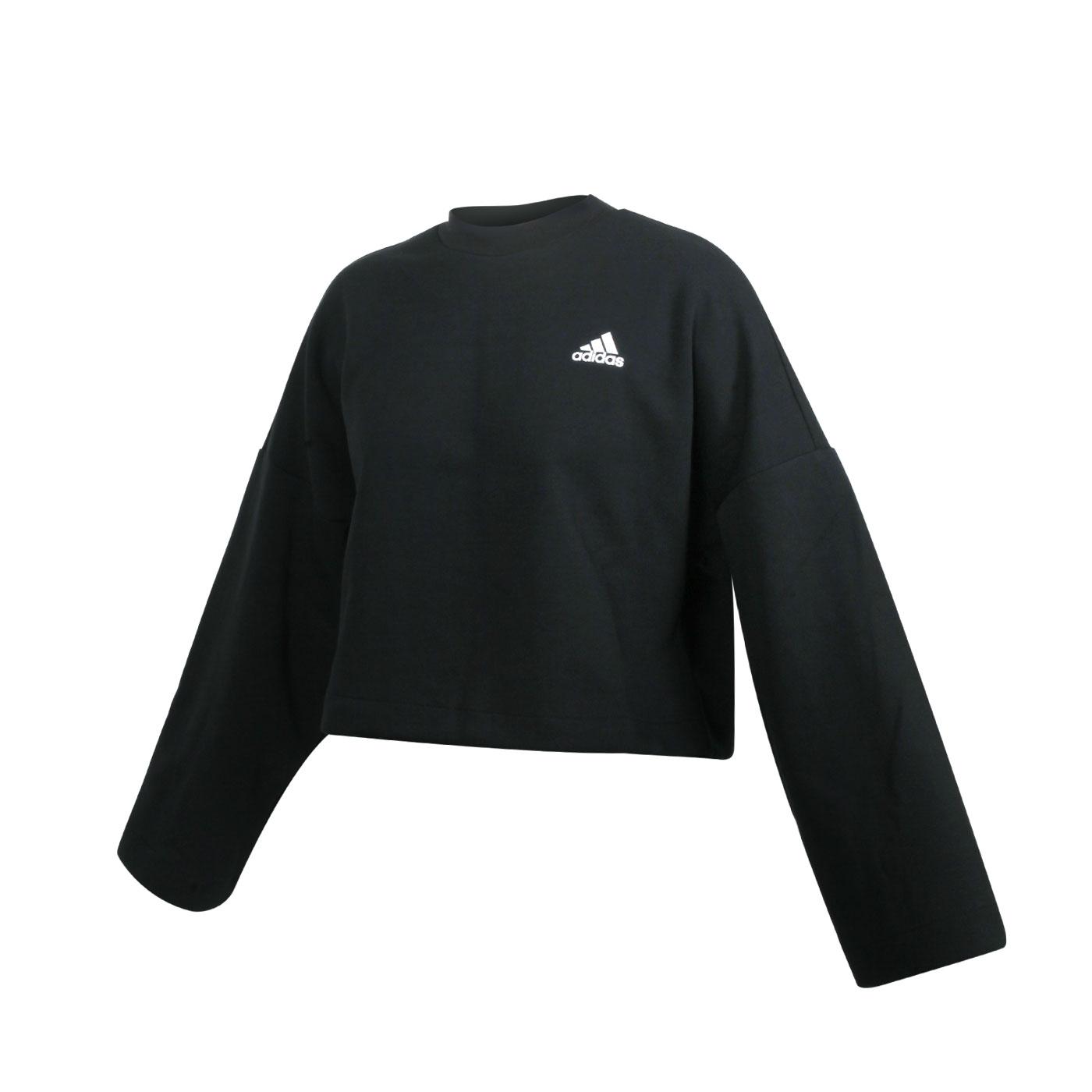 ADIDAS 女款長袖T恤 GC6943 - 黑白