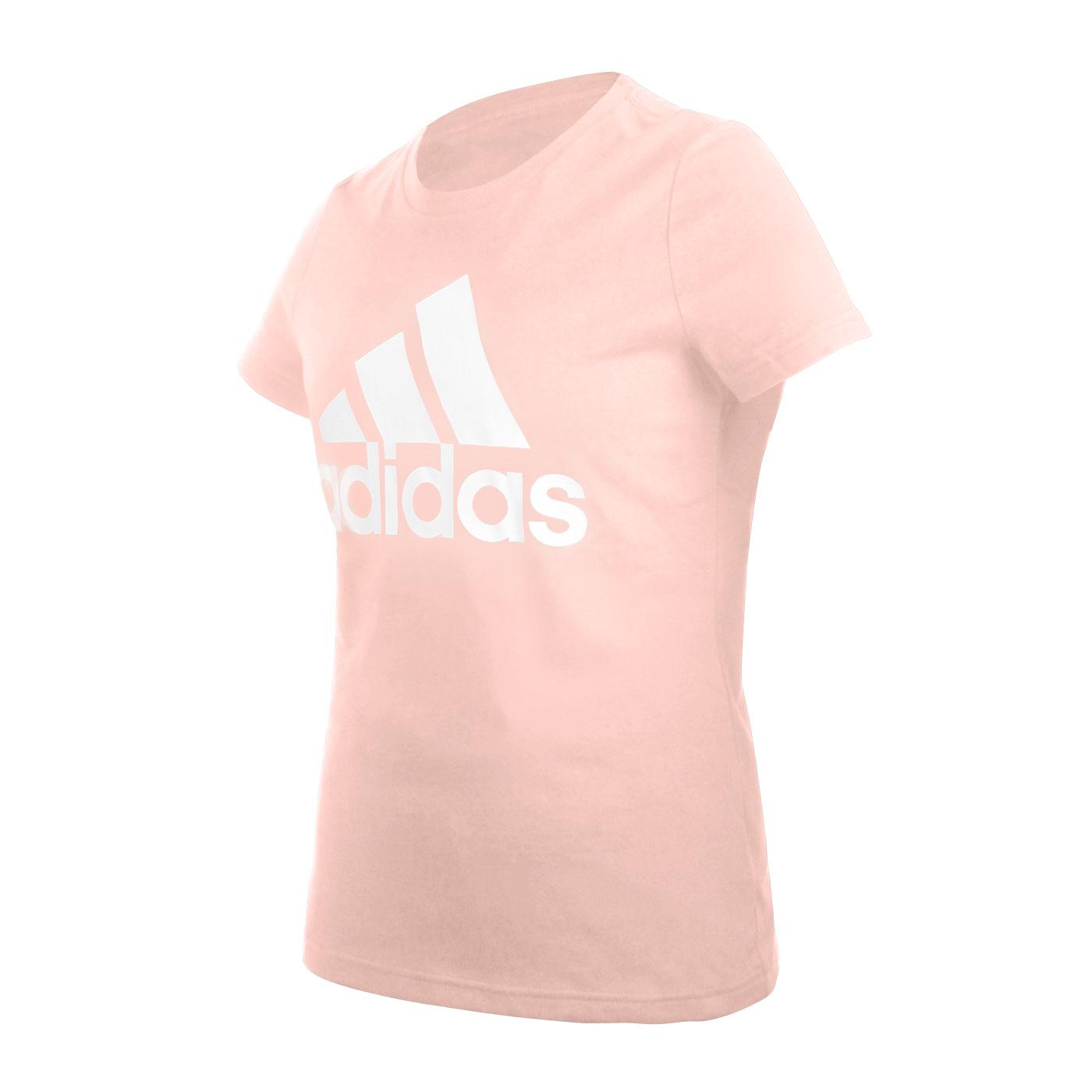 ADIDAS 女款短袖T恤 FQ3237 - 粉白