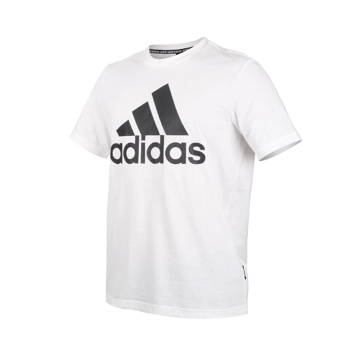 ADIDAS 男款短袖T恤 GC7348 - 白黑