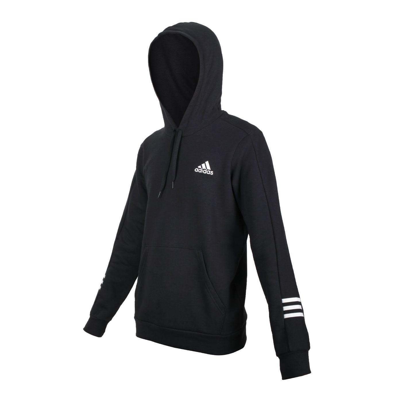 ADIDAS 男款長袖連帽T恤 GD5443 - 黑白