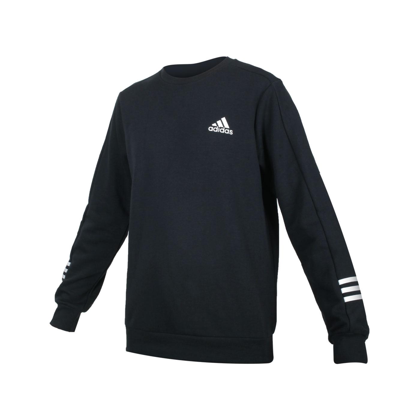 ADIDAS 男款圓領長袖T恤 GD5467 - 黑白