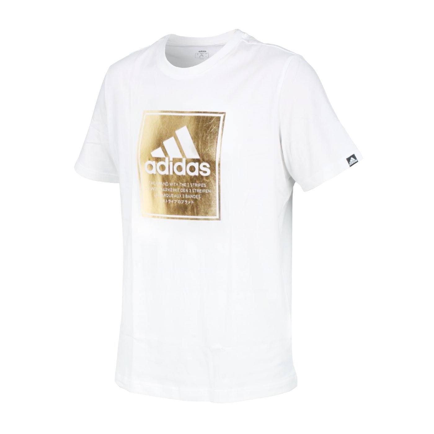 ADIDAS 男款短袖T恤 GD5930 - 白金