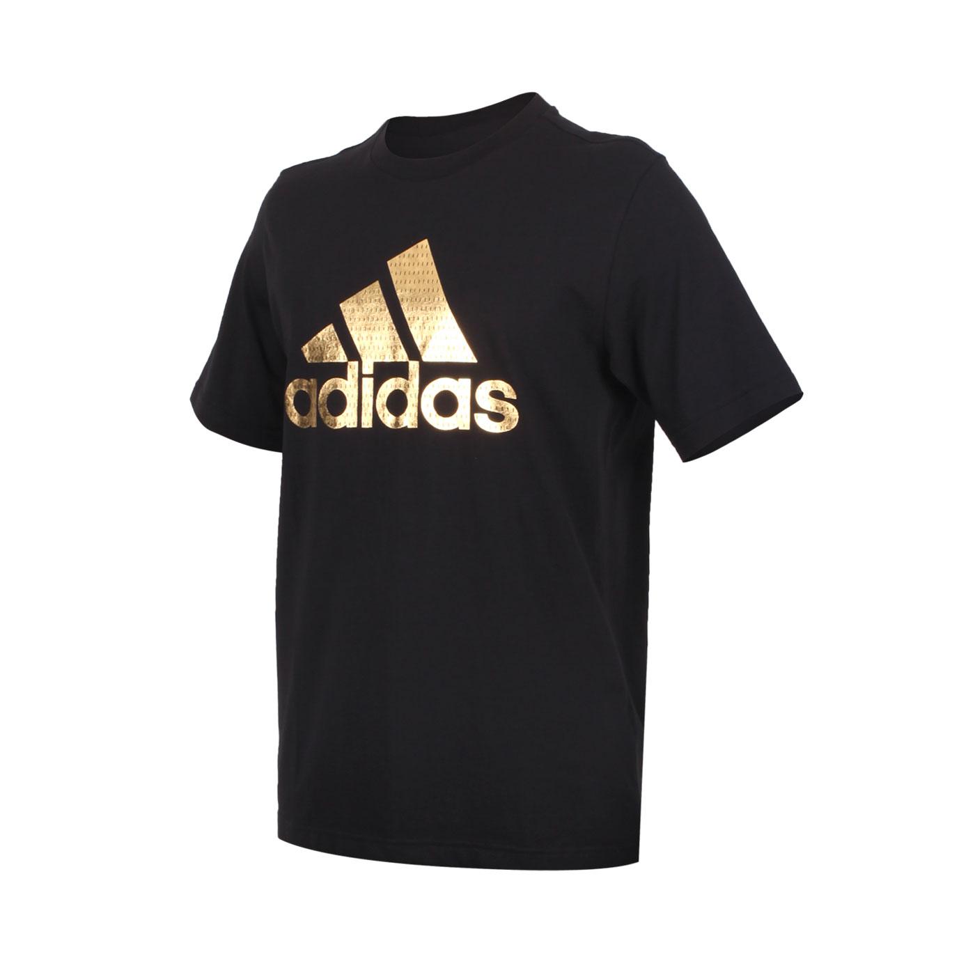 ADIDAS 男款短袖T恤 GE4688 - 黑金