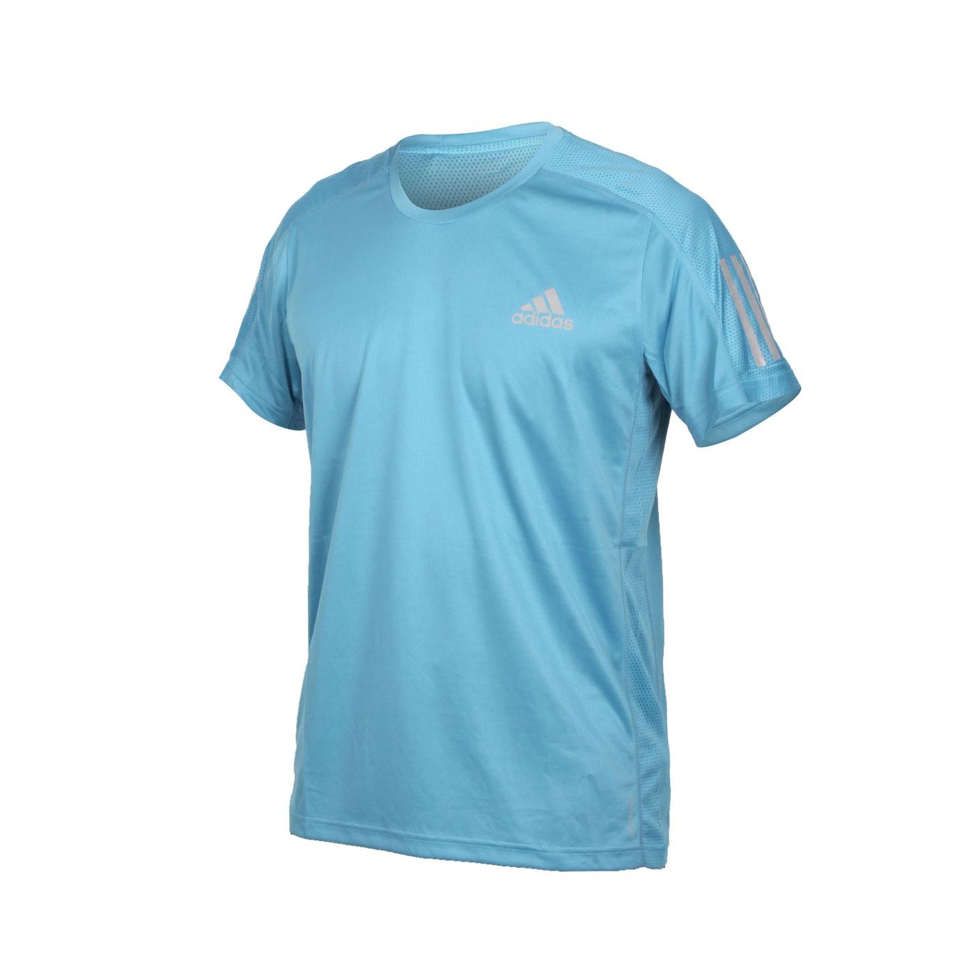 ADIDAS 男款短袖T恤 GJ9966 - 淺藍銀