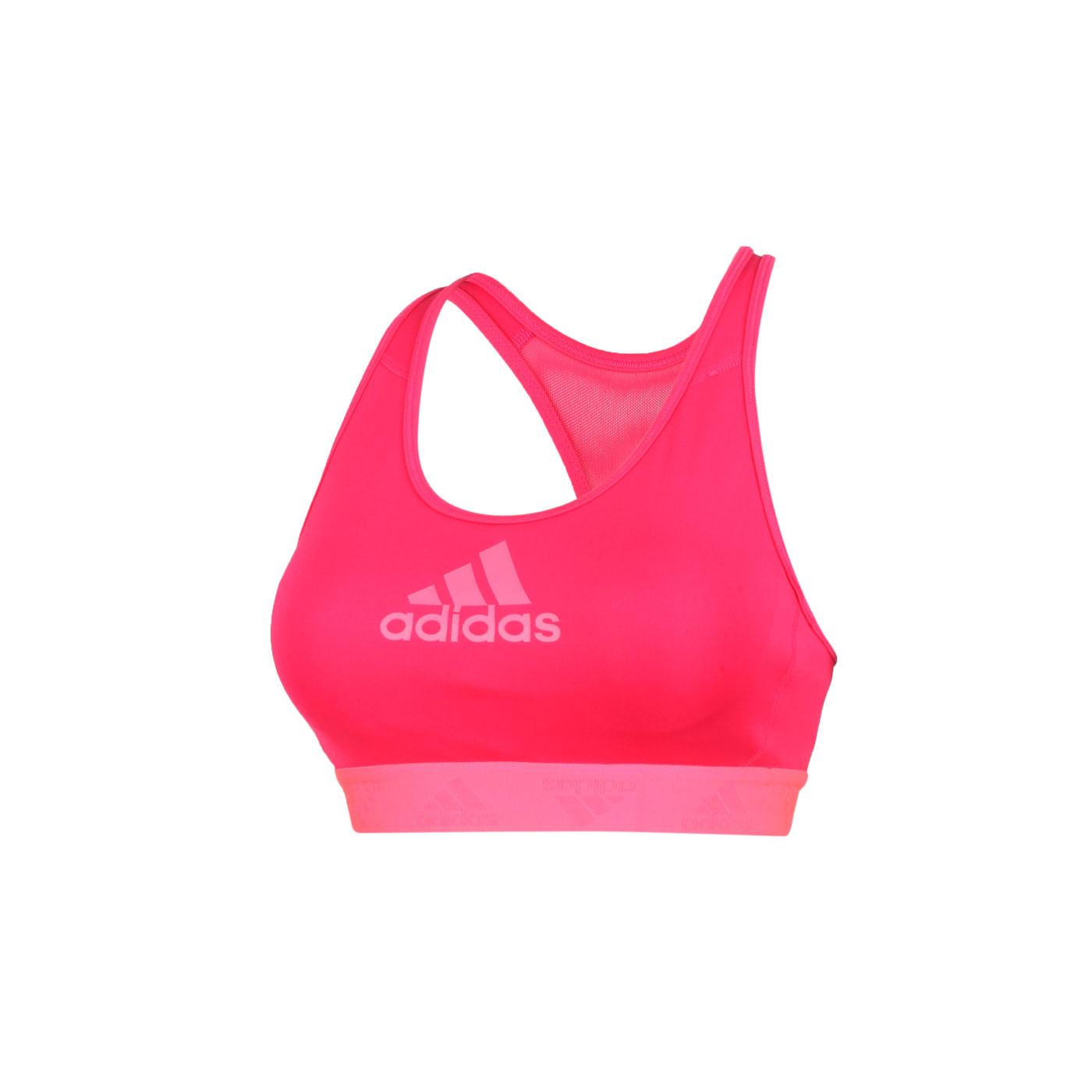ADIDAS 女款運動內衣 GK0298 - 桃紅螢光粉