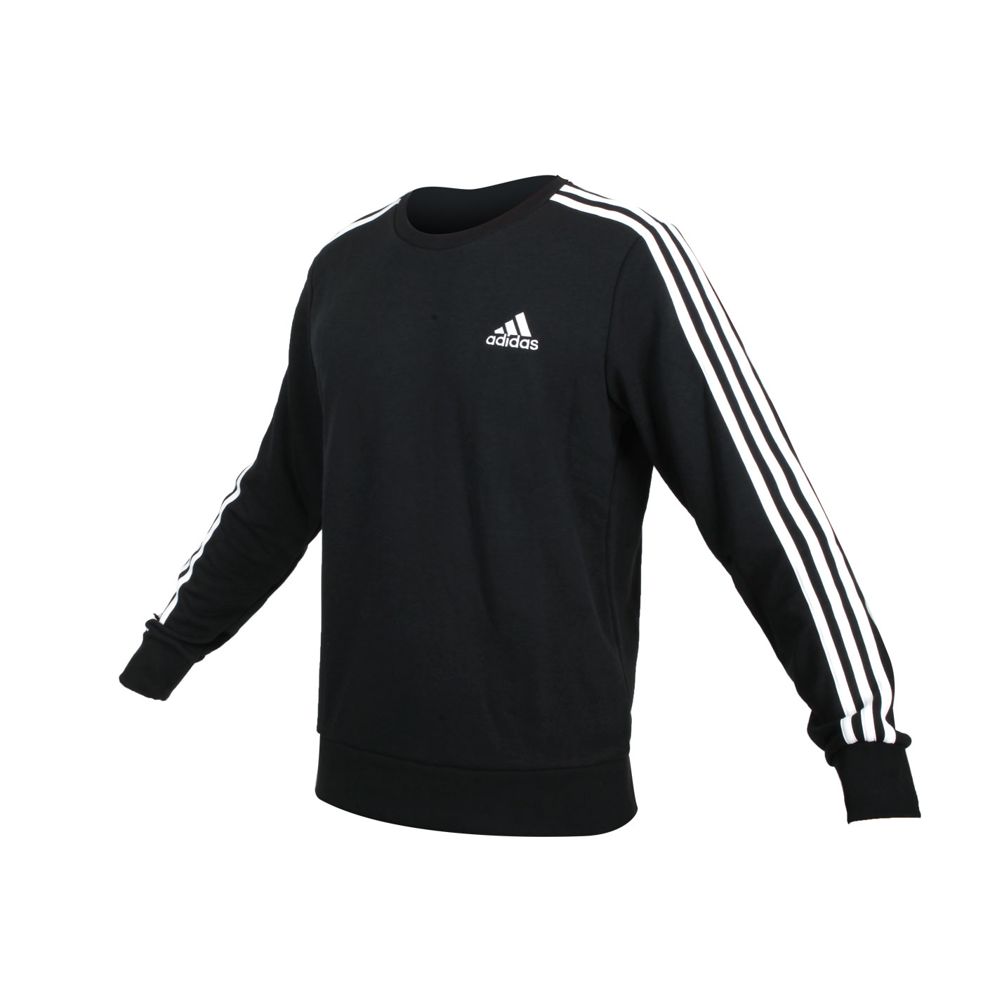 ADIDAS 男款圓領長袖T恤 GK9078 - 黑白