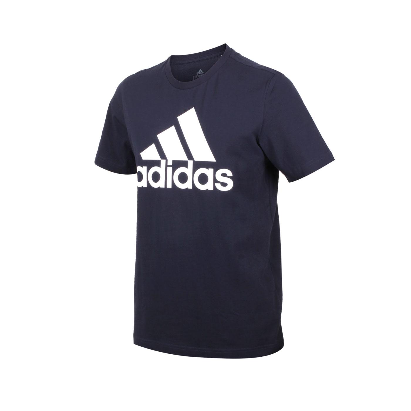 ADIDAS 男款短袖T恤 GK9122 - 丈青白