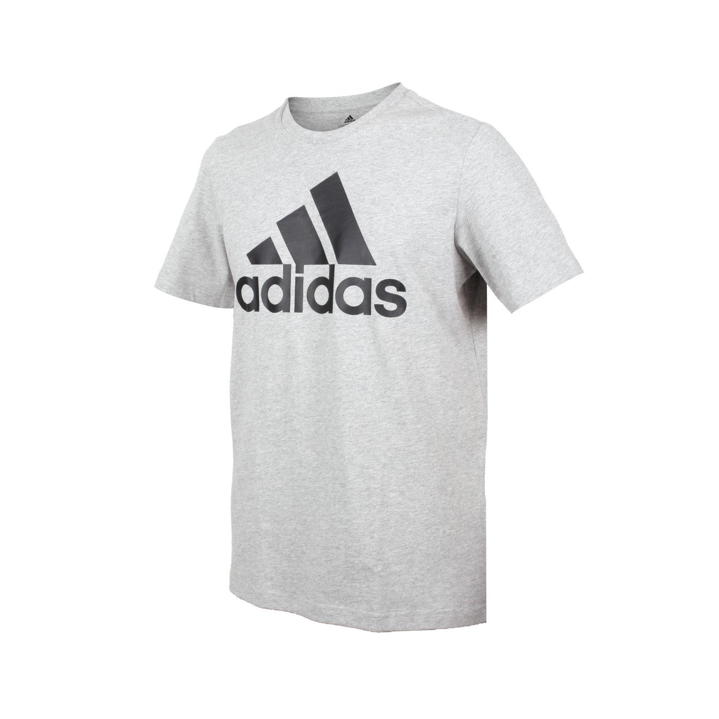ADIDAS 男款短袖T恤 GK9123 - 灰黑