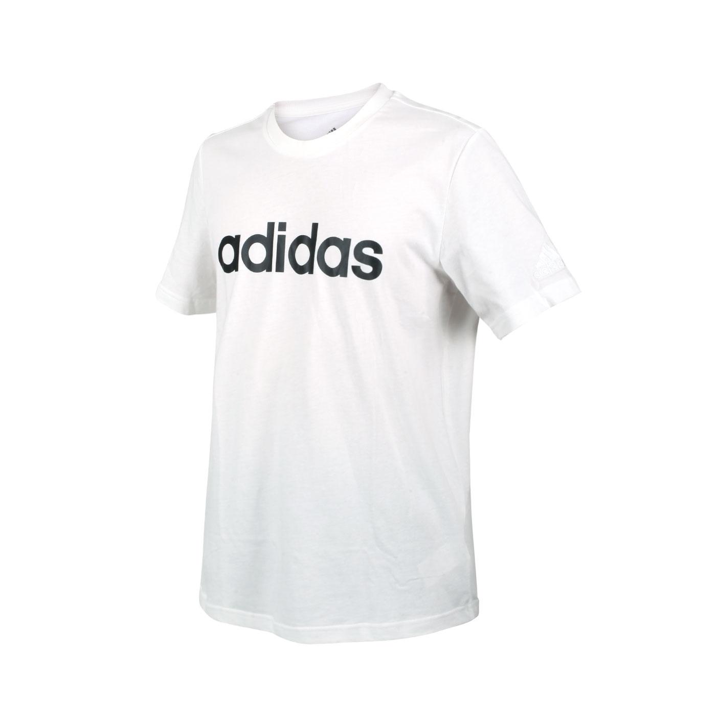 ADIDAS 男款短袖T恤 GL0058 - 白黑