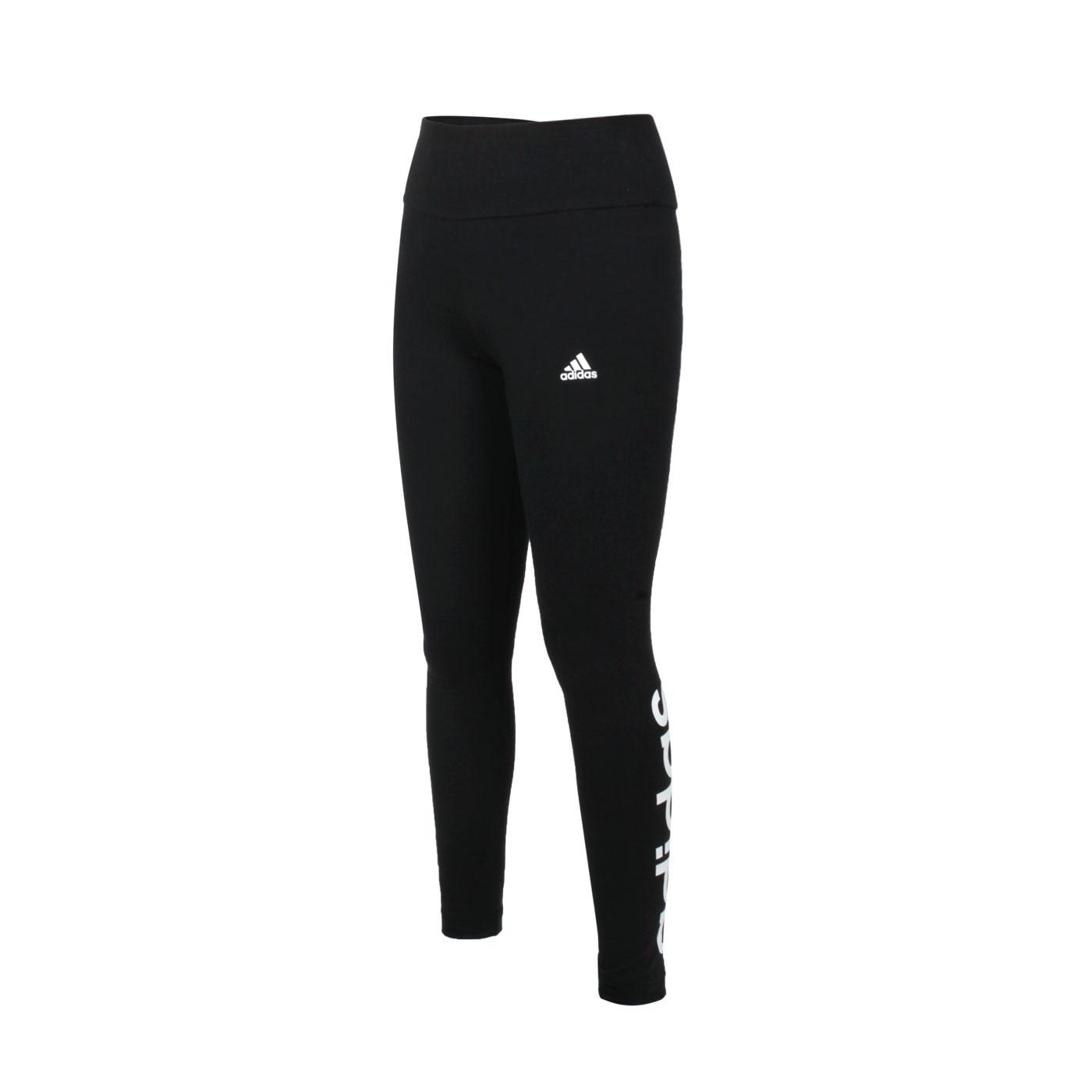 ADIDAS 女款緊身長褲 GL0633 - 黑白