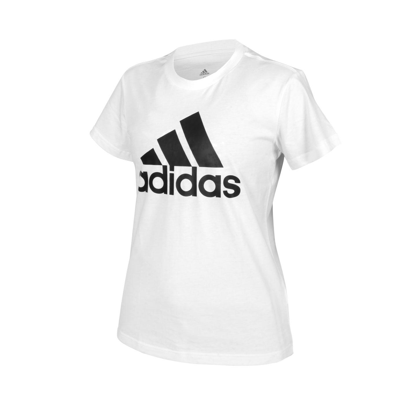 ADIDAS 女款短袖T恤 GL0649 - 白黑