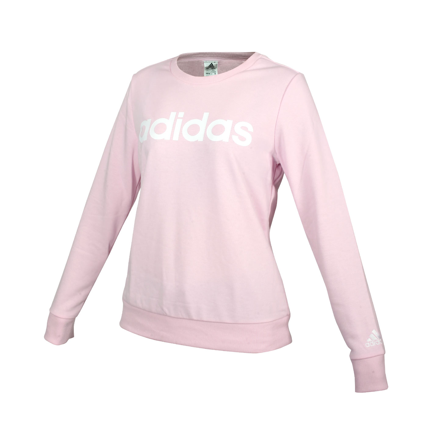 ADIDAS 女款圓領長袖T恤 GL0721 - 粉紅白