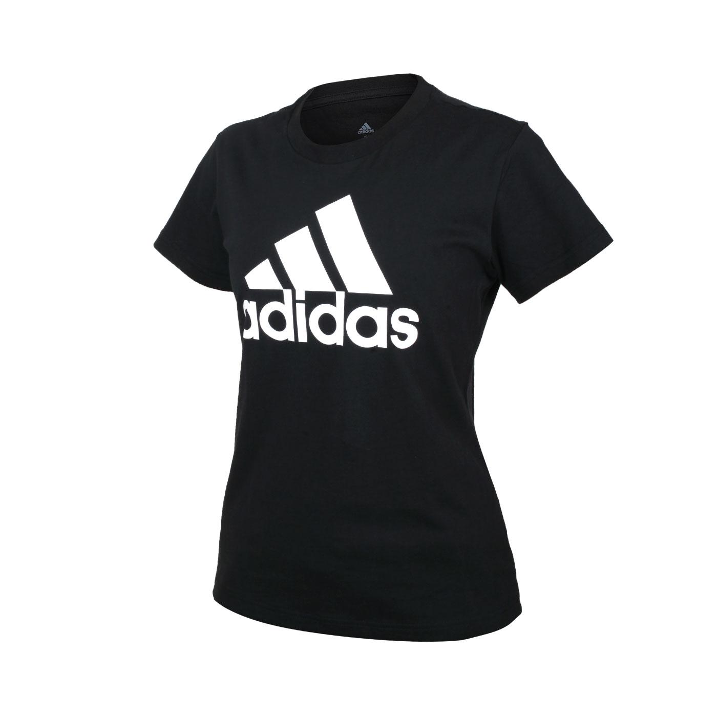 ADIDAS 女款短袖T恤 GL0722 - 黑白