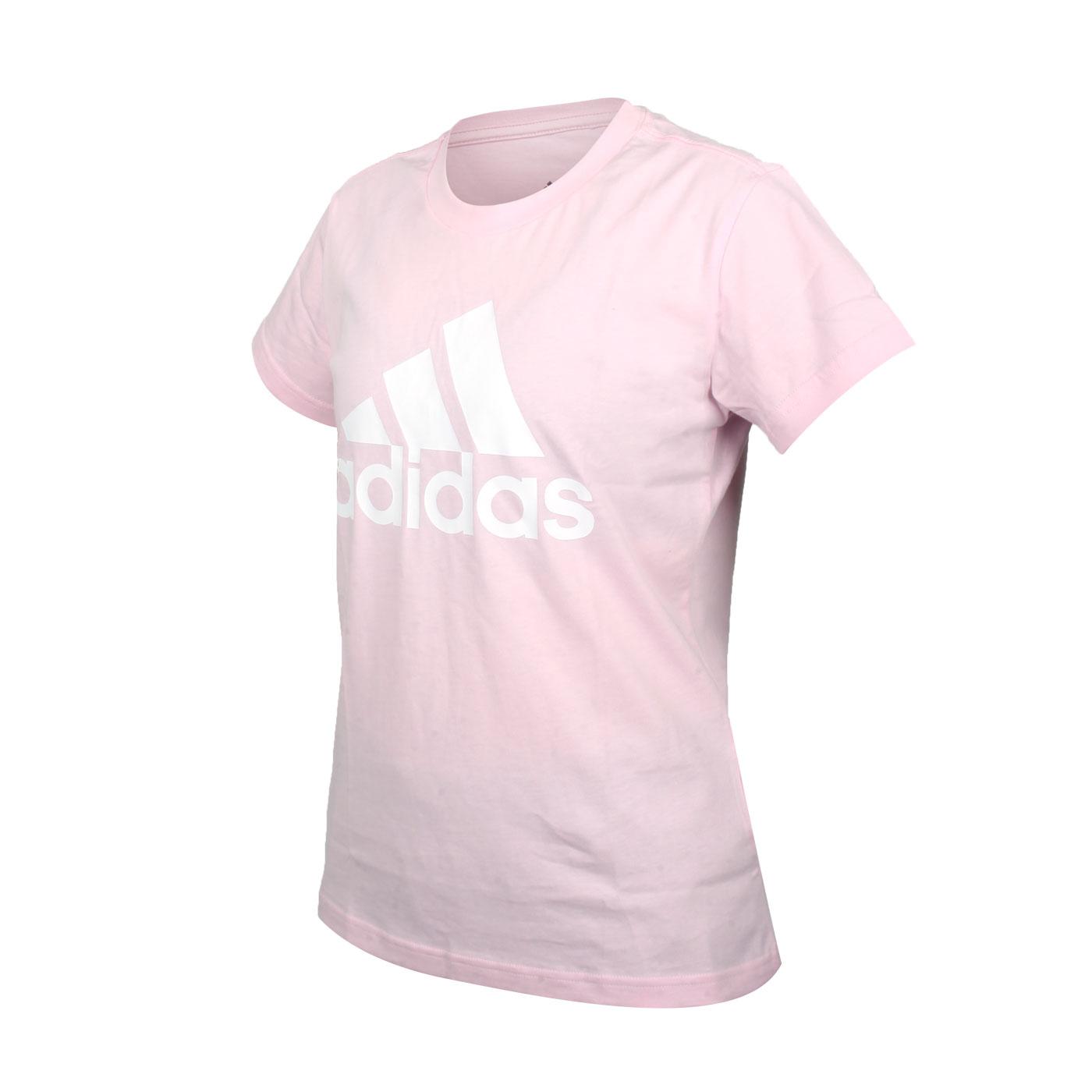 ADIDAS 女款短袖T恤 GL0726 - 粉紅白