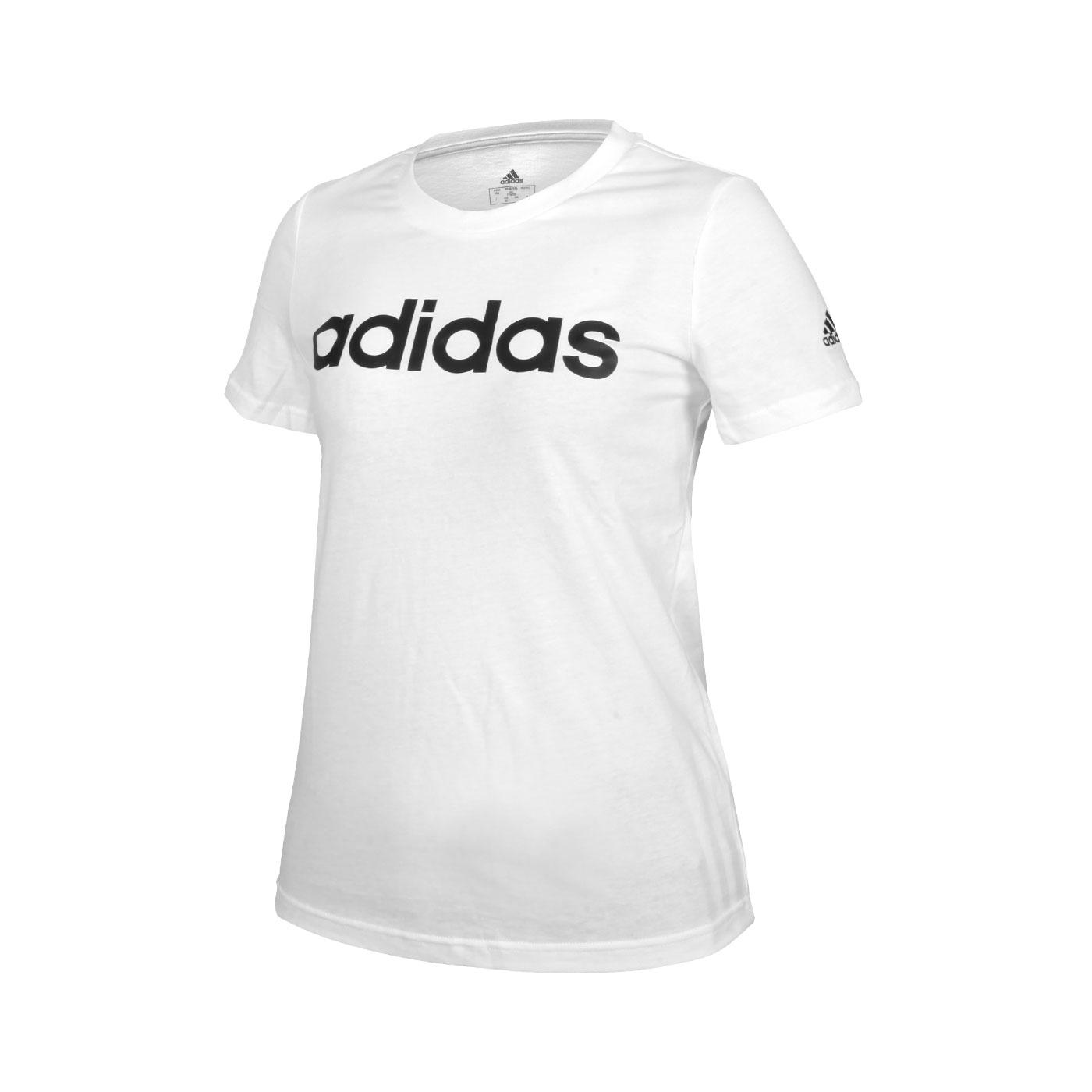 ADIDAS 女款短袖T恤 GL0768 - 白黑