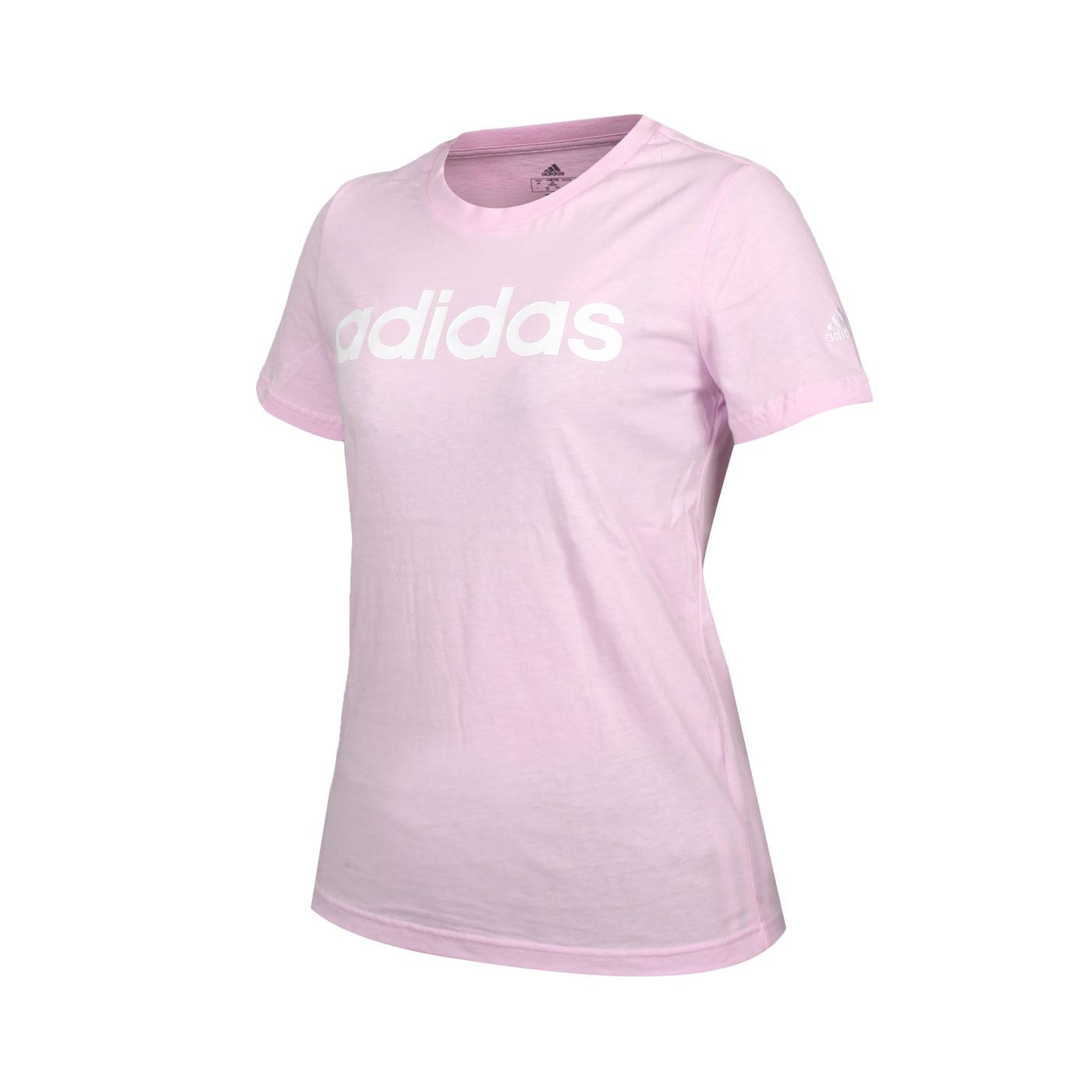 ADIDAS 女款短袖T恤 GL0771 - 粉紅白