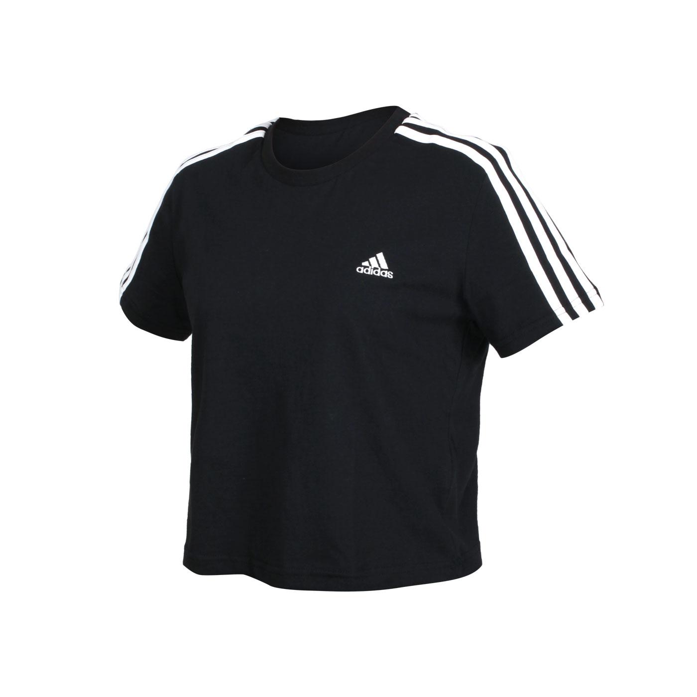 ADIDAS 女款短袖T恤 GL0777 - 黑白