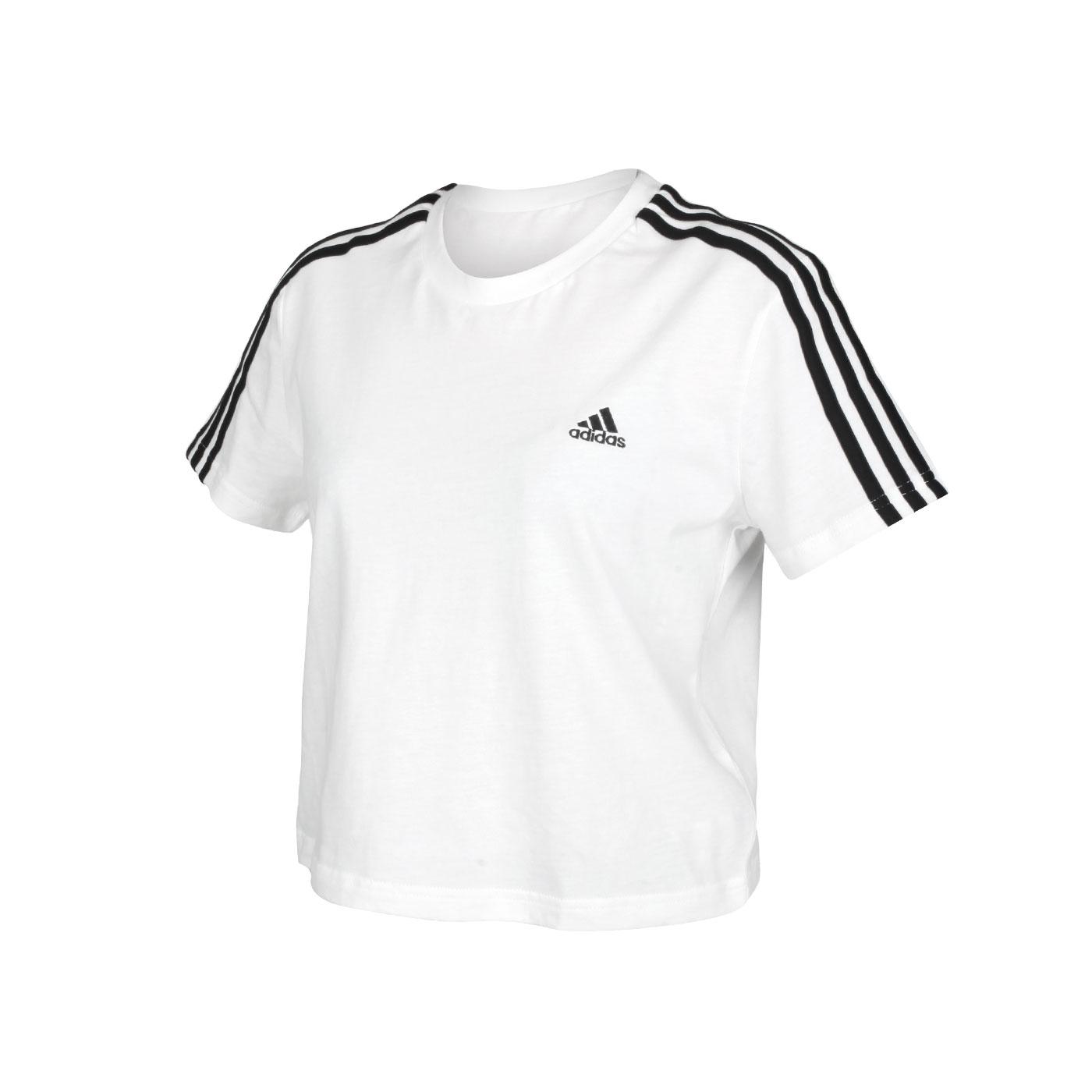 ADIDAS 女款短袖T恤 GL0778 - 白黑