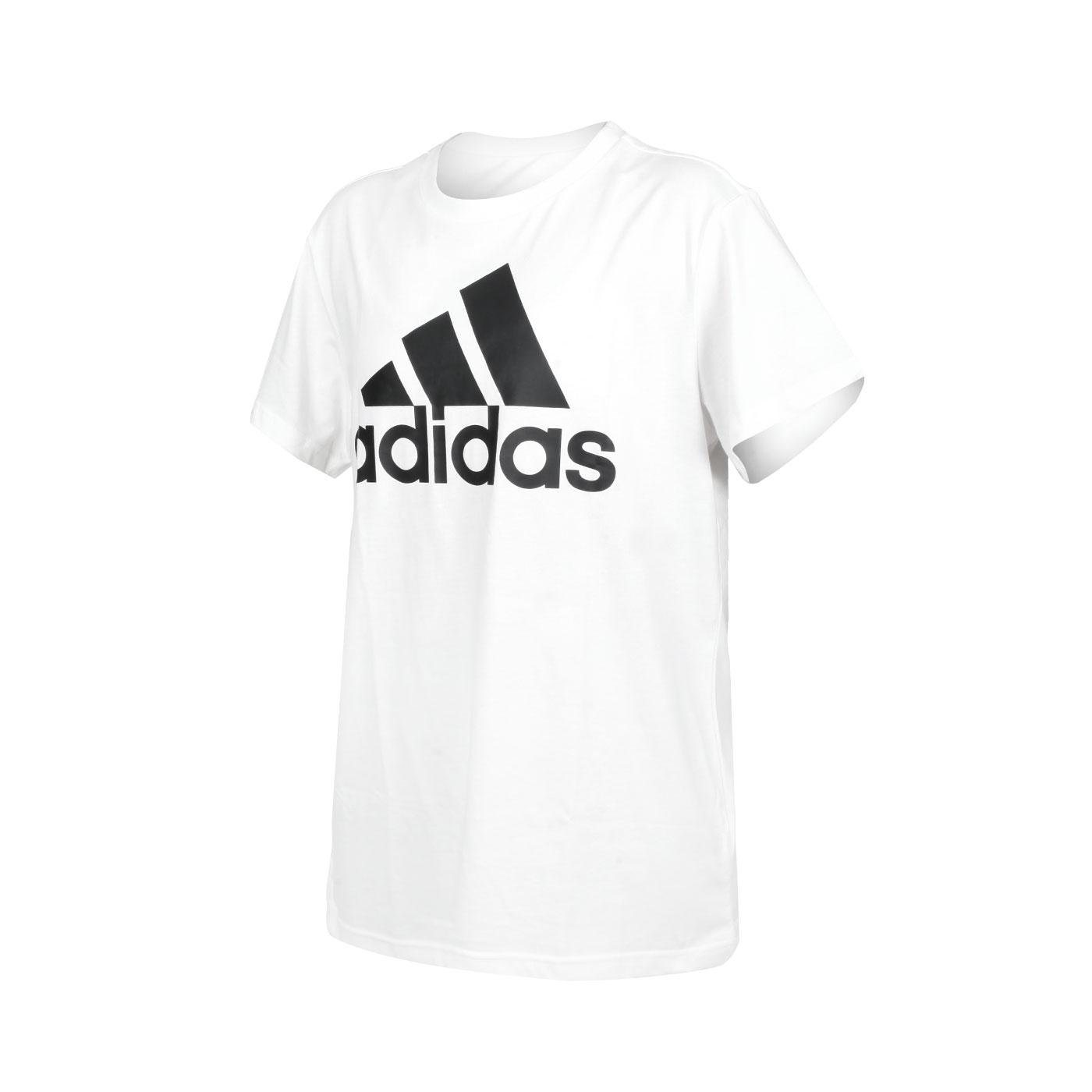 ADIDAS 女款短袖T恤 GL0779 - 白黑