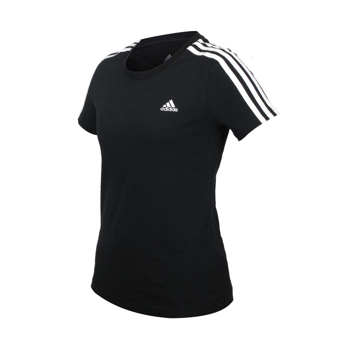 ADIDAS 女款短袖T恤 GL0784 - 黑白